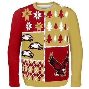 Boston College Eagles Busy Block Ugly Sweater NWT